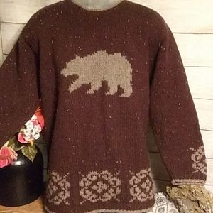Woolrich brown crew neck sweater